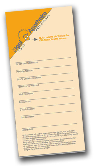 Igel Apotheken Kundenkarte